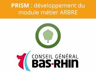 PRISM : développement du module métier ARBRE, Geoloc-Systems